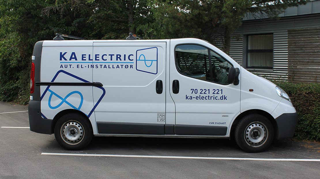 Kontakt KA electric, så kommer vi ud.